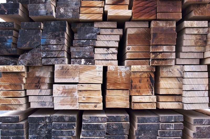 Stacks of rough cut Lumber, JB Sawmill Hopkinton MA